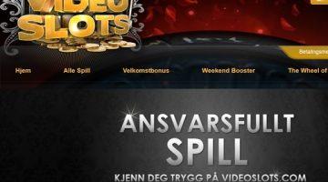 Ansvarsfullt spill på casino Videoslots!